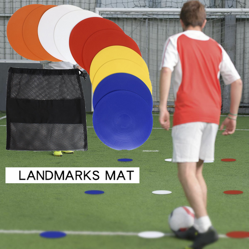 Round Rubber Flat Cones Training Spot Markers Football Pitch Floor Discs Sports