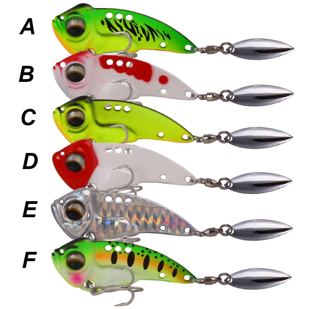 Spoon Metal VIB Lure Metal Fishing Bait Wobblers Crankbaits Treble Hook